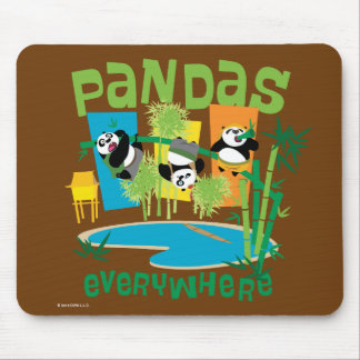 Pandas Everywhere Mouse Pad