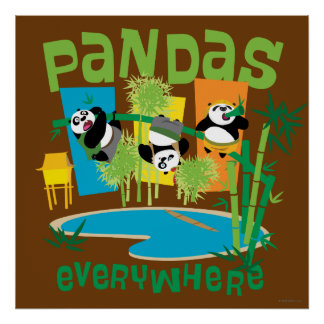Pandas Everywhere Poster