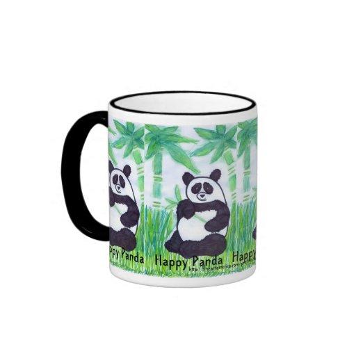 Pandas felices de la taza O.O. 4 del campanero