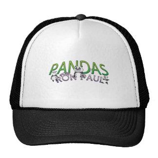 PANDAS FOR RON PAUL HAT