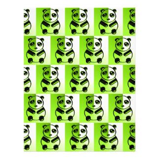 Pandas green pattern flyers