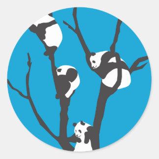 Pandas Hangin' Out Classic Round Sticker