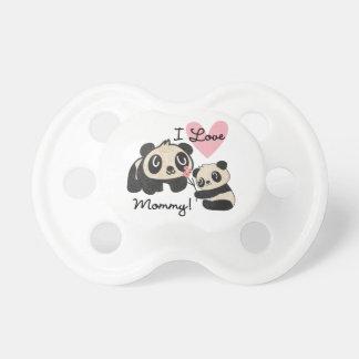 Pandas I Love Mommy BooginHead Pacifier