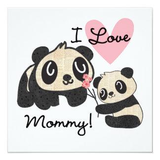 Pandas I Love Mommy Card