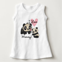 Pandas I Love Mommy Dress