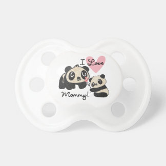 Pandas I Love Mommy Pacifier
