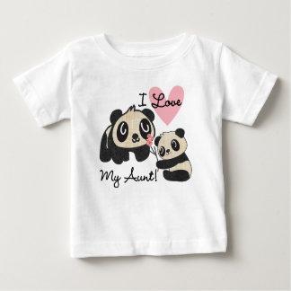 Pandas I Love My Aunt Baby T-Shirt