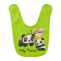 Pandas I Love My Nana Bib