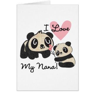 Pandas I Love My Nana Card