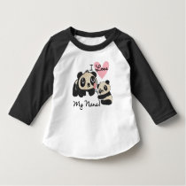 Pandas I Love My Nana Toddler Raglan T-shirt