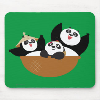 Pandas in a Bowl Mouse Pad