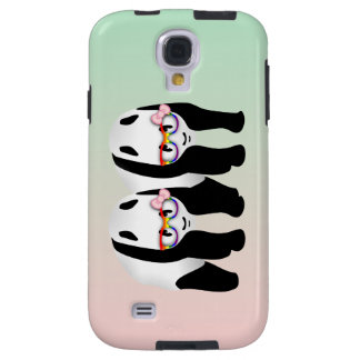 Pandas lesbianas del orgullo que llevan los funda para galaxy s4