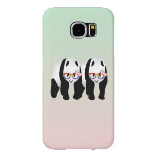 Pandas lesbianas del orgullo que llevan los fundas samsung galaxy s6