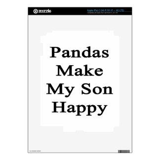 Pandas Make My Son Happy iPad 3 Decals