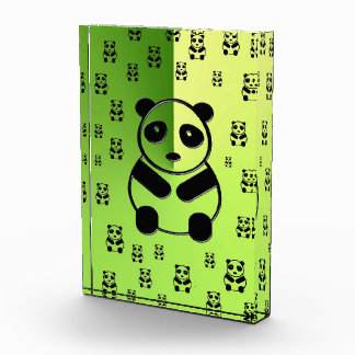 Pandas on forest green background award