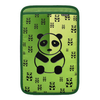 Pandas on forest green background sleeves for MacBook air