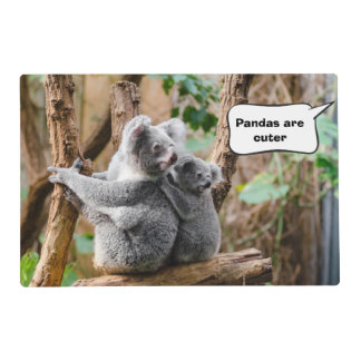 Pandas or Koalas - Which are cuter? Placemat