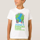 """PANDAS/PANS Awareness Day T-shirt Kids<br><div class=""""desc"""">This PANDAS/PANS T-shirt is a colorful way to raise awareness for October 9th awareness day. The back is complimented with the PANDAS Network.org sun and website</div>"""