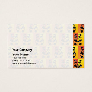 Pandas pattern business card