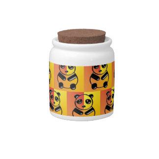 Pandas pattern candy jar