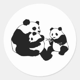 Pandas Pegatinas Redondas