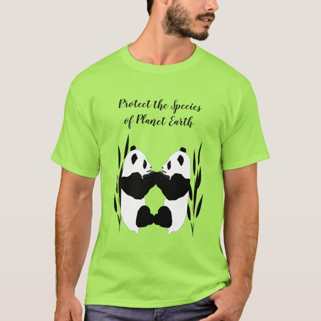 Pandas Planet Earth Protect the Species Shirt