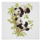 Pandas Playing in a Tree Poster