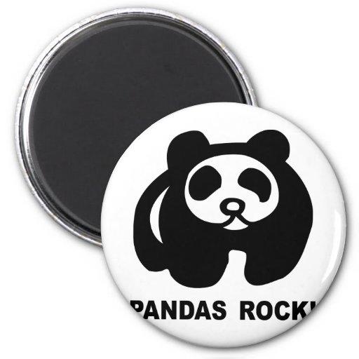 Pandas Rock 2 Inch Round Magnet