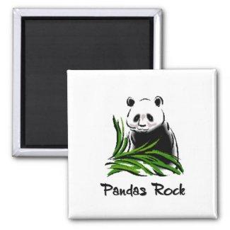 Pandas Rock magnet