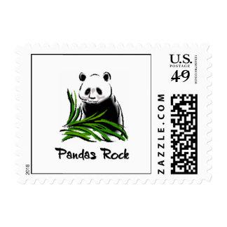 Pandas Rock Stamp