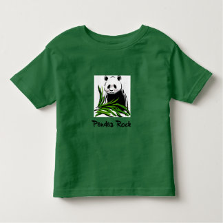 Pandas Rock Toddler T-shirt