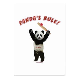 Pandas Rule Cricket Business Card Template