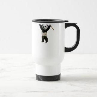 Panda's Rule Hockey Bear 15 Oz Stainless Steel Travel Mug