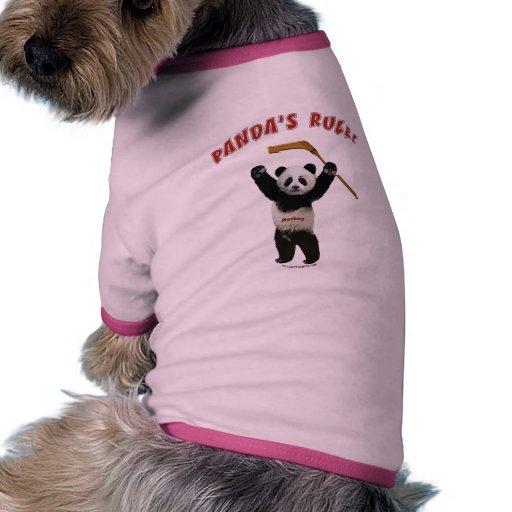 Panda's Rule Hockey Bear Dog Clothing