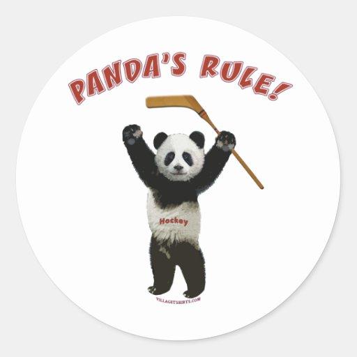 Panda's Rule Hockey Bear Sticker