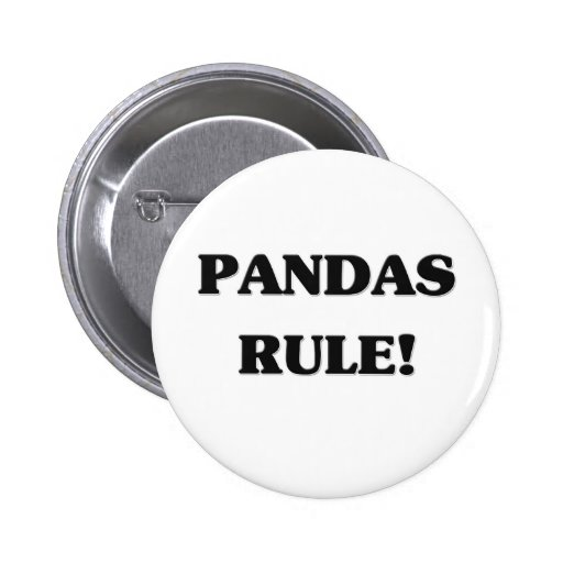 Pandas Rule Pinback Buttons