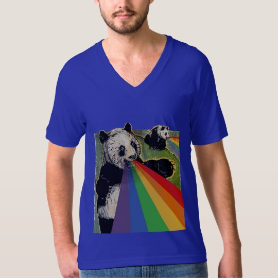 Pandas shooting rainbows from their mouths T-Shirt