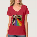 Pandas shooting rainbows from their mouths tee shirts
