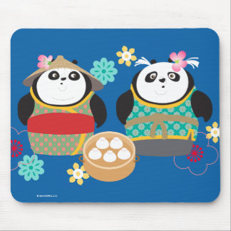 Pandas with Dumplings Mouse Pad