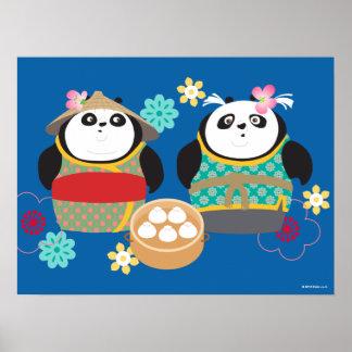 Pandas with Dumplings Poster