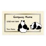 Pandas y papel de arroz plantilla de tarjeta personal