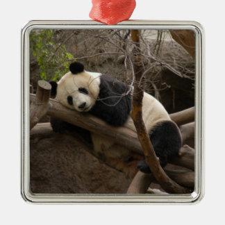 PandaSD003 Adorno Navideño Cuadrado De Metal