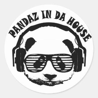 Pandaz In Da House Classic Round Sticker