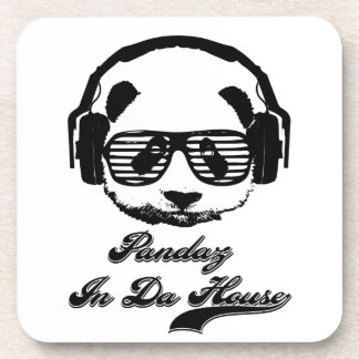 Pandaz In Da House Drink Coaster