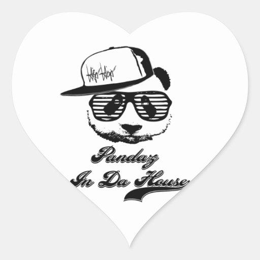 Pandaz In Da House. Ghetto panda Heart Sticker