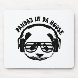 Pandaz In Da House Mouse Pad