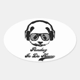 Pandaz In Da House Oval Sticker