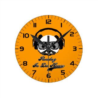 Pandaz In Da House Round Clock