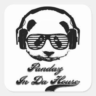Pandaz In Da House Square Sticker