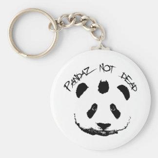 Pandaz not dead basic round button keychain